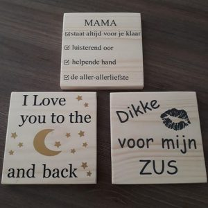 Diverse houten items